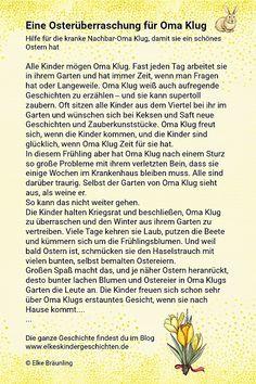 ✔ Die Oster-Oma Elke Bräunling, Reading Practice, Nursery School, Storytelling, German, Children, Kids, Amelie, Motto