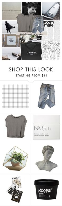 """""""take my time on my own"""" by junglex ❤ liked on Polyvore featuring A.P.C., GET LOST, NARS Cosmetics, Danya B, Chanel and Assouline Publishing"""