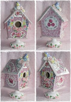 This is one of the most gorgeous birdhouses that has been made with love and care. (the other most gorgeous one is also listed hehe) I ha...