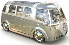 volkswagon microbus re-do..the verdier...so cool with so many features for the nouvelle hippie-hipster!