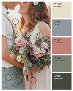 It's more than just one day. Discover the colors used in your wedding palette to paint your space with those romantic hues. Your home will constantly remind you of the happiest moment in your life. Click through to download the Sherwin-Williams ColorSnap® Visualizer for mobile or iPad to bring your wedding palette home with you.