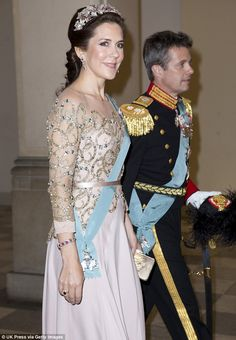 Crown Prince Frederik and Crown Princess Mary -  Danish royal family at the Gala Dinner 04/15/2015