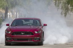Testing out the Line Lock feature on the new 2015 Mustang.