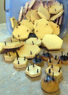 Jenni Ward ceramic sculpture | the dirt | making kiln stilts