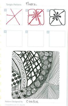 Step-By-Step Zentangle Pattern
