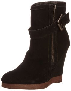 Suede Ankle Boots with 7.5 cm Heel Camel Red Black La redoute £95 ...