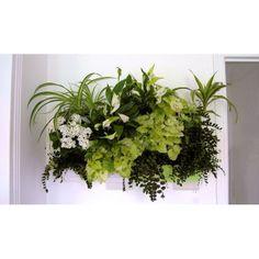 Mur végétal BRIQUE VERTE blanc x2