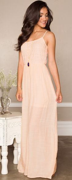 My Dear Maxi Dress - Peach