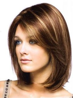 Shoulder Length Haircuts With Side Bangs