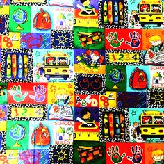 100x110cm Lovely Cartoon Cotton Fabric,Tissue School Kids Fabric for Patchwork Diy Sewing Material Quilting Plain Tecido,Felt