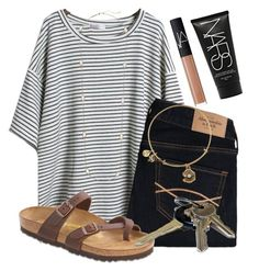"""Driving lessons with my dad "" by kari-luvs-u-2 ❤ liked on Polyvore featuring Abercrombie & Fitch, Birkenstock, Alex and Ani, Avon, Kendra Scott and NARS Cosmetics"