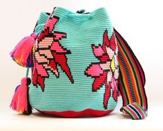 Handwoven mochila bag Frida by VaLArteorg on Etsy