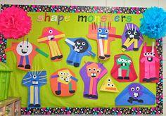 Shape Monster, Shape Monster I love You - Mrs. Rings  K-Crew Kids Rock!! shape monster, kcrew kid, kindergarten math, printable templates, kindergarten stuff, monsters, kids, math idea, kid rock