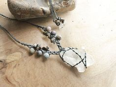 Clear+Quartz+crystal+healing+jewelry+twopoint+by+SpiritCarrier,+£34.00
