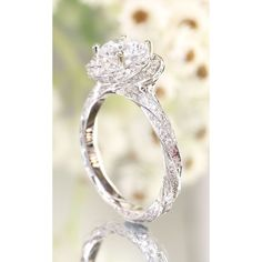 20 Stunning Wedding Engagement Rings That Will Blow You Away ❤ liked on Polyvore