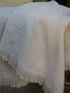 """Heavy Weight Belgium Linen Bed Throw /Blanket- 52"""" Wide x 76"""""""
