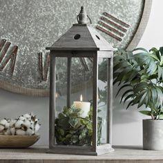 Update your lantern with seasonal greenery!