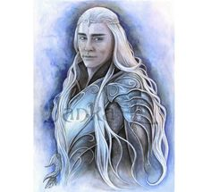 "Thranduil - 10,62"" x 7,88"" or 15,28"" x 11,22"" Print, Thranduil, elven king, Hobbit inspired art"