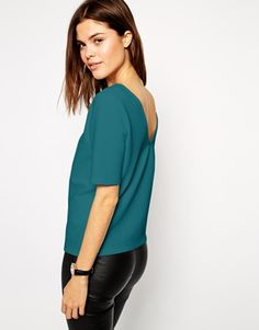 ASOS Top in Texture with V Back