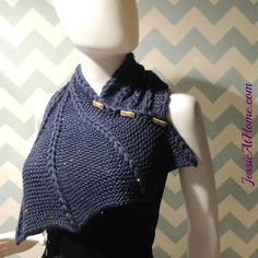 Free knitting pattern for Dragon Wing Cowl and more neck warmer knitting patterns
