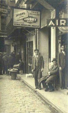 Tahtakale 1950's. Eminönü. Istanbul. Turkey.