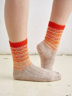 Ombre sock knitting pattern from the Coop Knits Socks Volume 2 book: get it at Laughing Hens