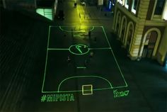 Nike's Using Frickin' Laser Beams to Project Soccer Fields onto City Streets in Spain Nike Ad, Nike Neon, Football Pitch, Nike Football, Soccer Games, Play Soccer, Retail Technology, Experiential Marketing, City Streets