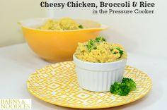 Pressure Cooker Cheesy Chicken Broccoli Rice BarnsandNoodles 3
