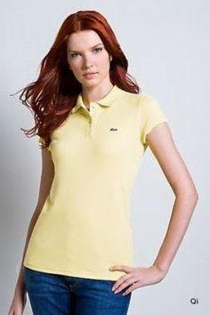 Simple, la mode, de haute qualité! Il s'agit d'une des femmes Lacoste T-shirt à manches courtes! 100% coton signifie plus sain et plus confortable et touche très doux! Juste base élément Polo, mais apportera d'autres changements sur la colocalisation robe! Il est fabriqué en France et sa marque est crocodile de couleur beige.