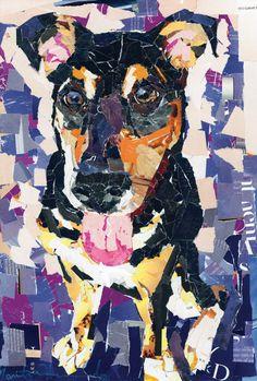 Dog Collage Portrait Jan by MaritzaHernandezArt on Etsy, $75.00