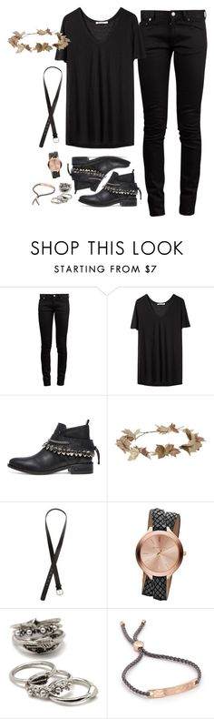 """""""every inch of silence"""" by nanu-luna ❤ liked on Polyvore featuring Yves Saint Laurent, T By Alexander Wang, Freda Salvador, eliurpi, H&M, Michael Kors, Forever 21, Monica Vinader, women's clothing and women's fashion"""
