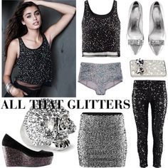 All that glitters by hmlife on Polyvore featuring moda, H&M, women's clothing, women's fashion, women, female, woman, misses and juniors