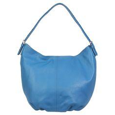 Women's Leather Slouchy Hobo Handbag,