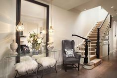 Glam Entryway and Hallway photo by Amy Kartheiser