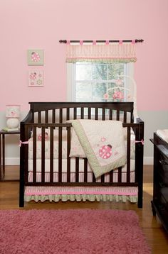 Ladybug Paisley Bedroom for Babies. Not wild about ladybugs but like the colors