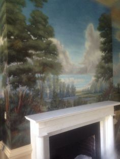 painted wall landscape mural