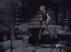 Caricatura de Jack Palance.