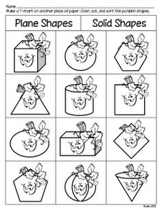 and shapes printable. Math First Grade a la Carte: Spookley the Square Pumpkin activities First Grade Classroom, 1st Grade Math, Math Classroom, Classroom Ideas, Grade 3, Math School, School Fun, School Stuff, School Daze