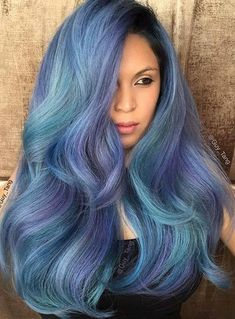 Pastel and Neon Hair Colors in Balayage and Ombre: Teal Hair Neon Hair Color, Teal Hair, Hair Color Balayage, Hair Colors, Turquoise Hair, Violet Hair, Bright Hair, Trends 2018, Casual Hairstyles