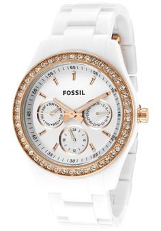 Price:$79.29 #watches Fossil ES2869, This stylish Fossil completes any outfit for a night out in town. The mother of pearl dial accentuates this timepiece making it the perfect addition to your wardrobe.