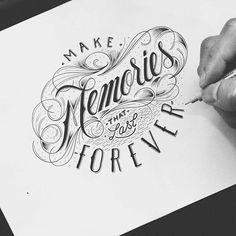 Stunning Typography Designs by Raul Alejandro - UltraLinx ... #letteringdesign #letteringdesignideas