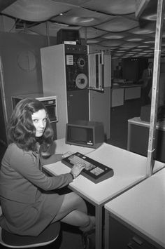At the console, in 1972