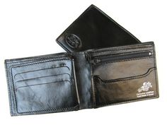 SHINY BLACK  men's leather wallet No.924 by AmielLeatherDesign, $47.00
