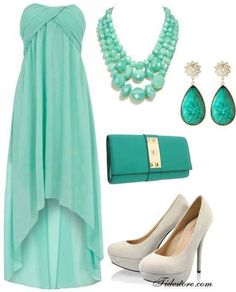 this trend and color for this month is mint green and high low cut dresses and skirts (august 2013)