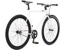 New 58cm Steel Track Fixed Gear Bike Fixie Single Speed Road Bicycle White/Black