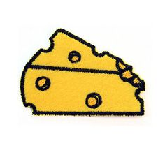 Cheese Appliques,Appliques,Embroidered patch,Sewing, Patch,embroidery design,Embroidery,Textile,Fiber,Needlecraft,Fabric,General suppli by omnisupply on Etsy