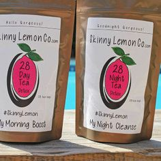 28 Day Teatox packs by SkinnyLemon on Etsy