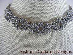 Tsunami Slave Collar Choker Necklace by aislinnscollared on Etsy