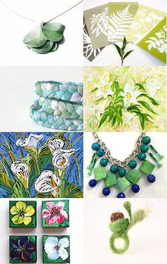 Fresh Spring, with Natural Greens --Pinned with TreasuryPin.com