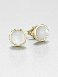 Mother-of-Pearl and 18K Yellow Gold Stud Earrings (Marco Bicego)